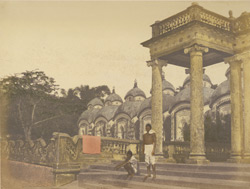 Ghaut and temples on the banks of the Hooghly [Calcutta]